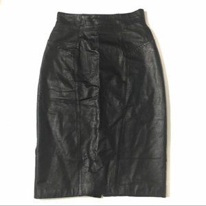 Byrnes & Bakers leather Skirt Sz 6